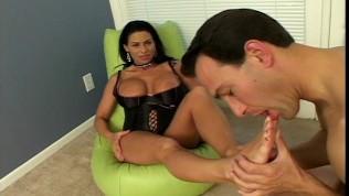 Foot fetisher having great sex