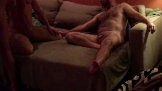 Milf Hotwife Threesome with Big Cock hubby and Craigslist cock