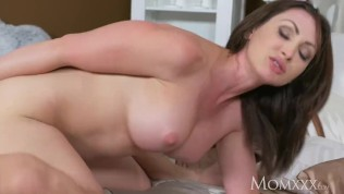 Horny old Milf takes home toy boy from gym and teases him till creampie