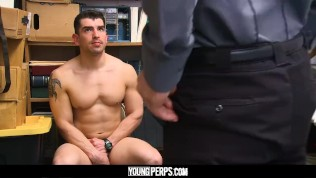 YoungPerps – Sexy jock stud takes raw cock up ass to avoid jail time