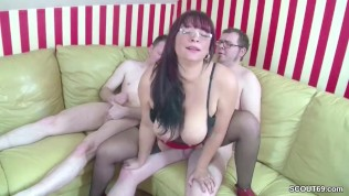 German MOM Teach Step-Son and Friend how To Fuck in 3some