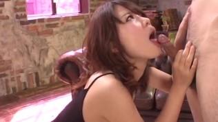 Small tits, Yura Kurokawa, pleases two fat dicks