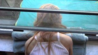 Teen Daughter Stuck In Window Fucked By Step Dad