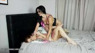 Isabel Dark and  Foxy Sanie – Slut and Wife Catfight