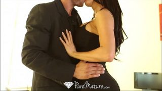 PureMature Peta Jensen strips off black dress to fuck