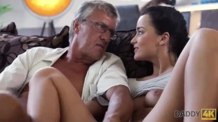 Dad of nerdy guy can satisfy sex needs of his girlfriend