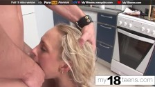 Babe Suck Big Dick and Anal Doggystyle Closeup