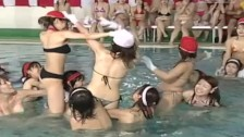 JAV huge pool meet topless cavalry charge game with subtitles
